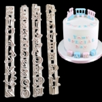 4pcs Alphabet letter and number fondant cake frill cutter PL-190